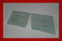 Lightweight door windows with sliders 914 3 mm green tinted