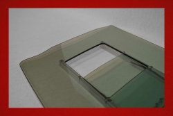Kunststoff Türscheiben mit Schiebefenster 914 3 mm in grau getönt