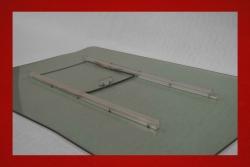 Kunststoff Türscheiben mit Schiebefenster 914 5 mm in grau getönt