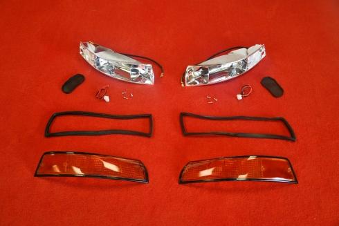 Blinker Komplett Set für Porsche 911 69-73 (US / Schwarz) - Paar