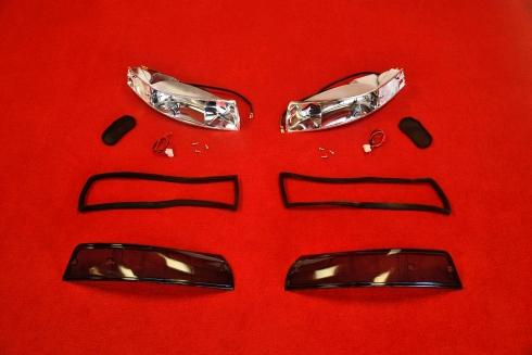 Blinker Komplett Set für Porsche 911 69-73 (Rauch / Schwarz) - Paar