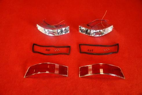 Tail light set 911 69-89 (US / chrome) - pair