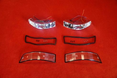 Tail light set 911 69-89 (white / black) - pair