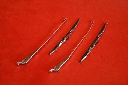 Scheibenwischer Set aus poliertem Edelstahl 911 / 964 / 993