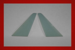 Lightweight triangle windows 911 / 964 / 993 (Targa / Cabriolet) 3 mm blue tinted