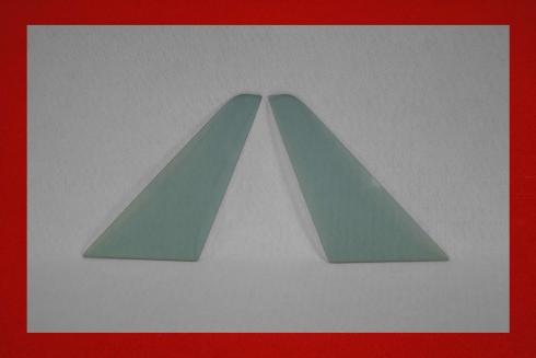 Lightweight triangle windows 911 / 964 / 993 (Targa / Cabriolet) 5 mm grey tinted