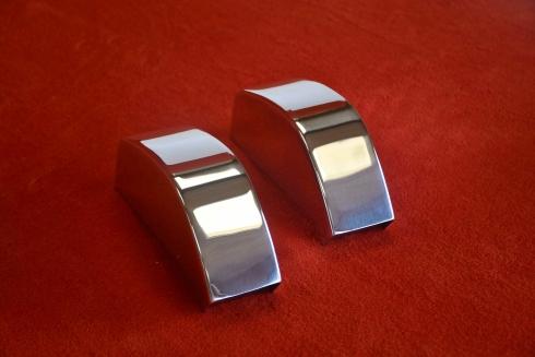 "Stoßstangenhörner hinten aus poliertem Aluminium ""Singer Style"" 911 / 964"