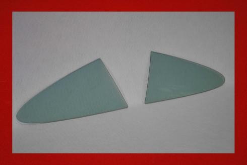 Kunststoff Seitenscheiben für Aerodynamik Rahmen 911 / 964 / 993 in grau getönt