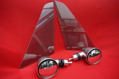 """manual mirror in """"Singer Style"""" for triangular windows (included)"""