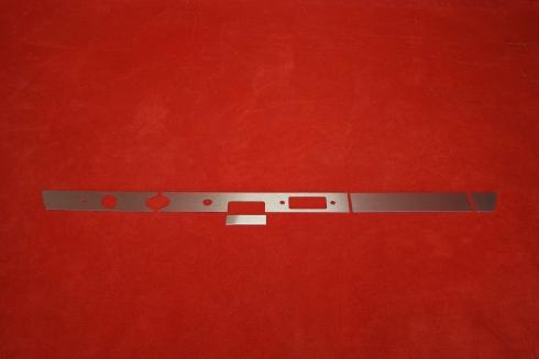 Dash trim kit (aluminium) 911 / 912 (1967) - LHD (without cutouts)