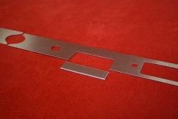 Armaturenbrett Blende (Aluminium) 911 / 912 (1968) - Linkslenker (Radio, Zigarettenanzünder, Aschenbecher)